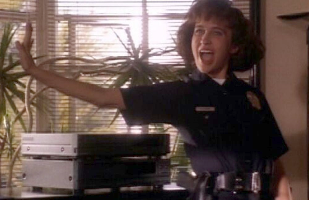 Anne Bobby as Officer Vicki Quinn in ABC's short-lived 1990 series Cop Rock. (Photo: Shout! Factory)