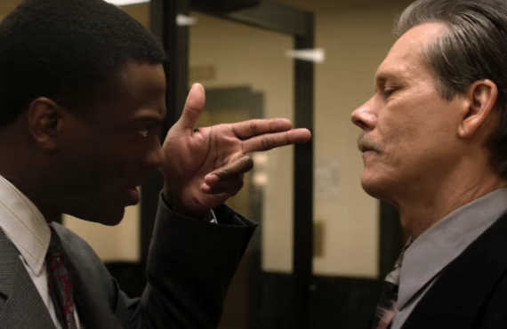 Aldis Hodge and Kevin Bacon in City on a Hill (Showtime)