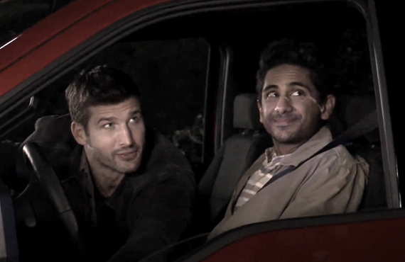 Parker Young and Adhir Kalyan in The United States of Al (CBS)
