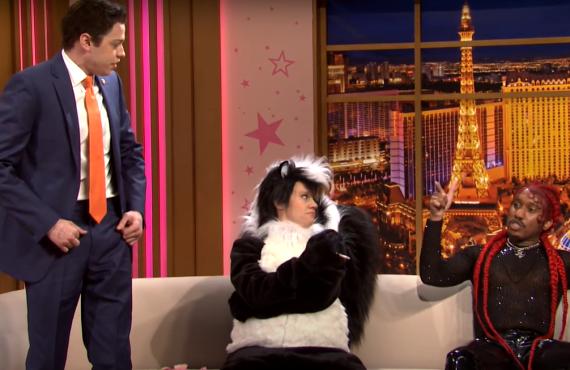 Pete Davidson, Kate McKinnon, Chris Redd on Saturday Night Live (NBC)