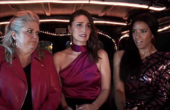Paula Pell, Sara Bareilles, Renée Elise Goldsberry in Girls5eva (Peacock)