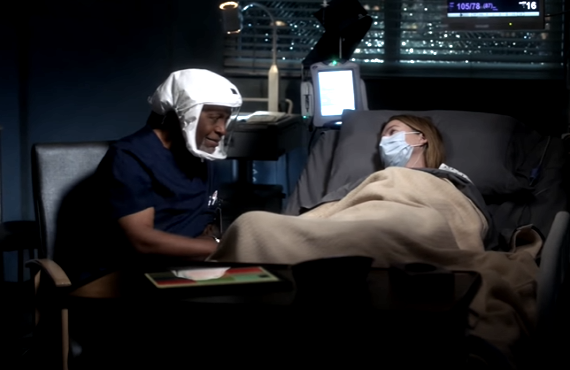 James Pickens Jr. and Ellen Pompeo on Grey's Anatomy (ABC)