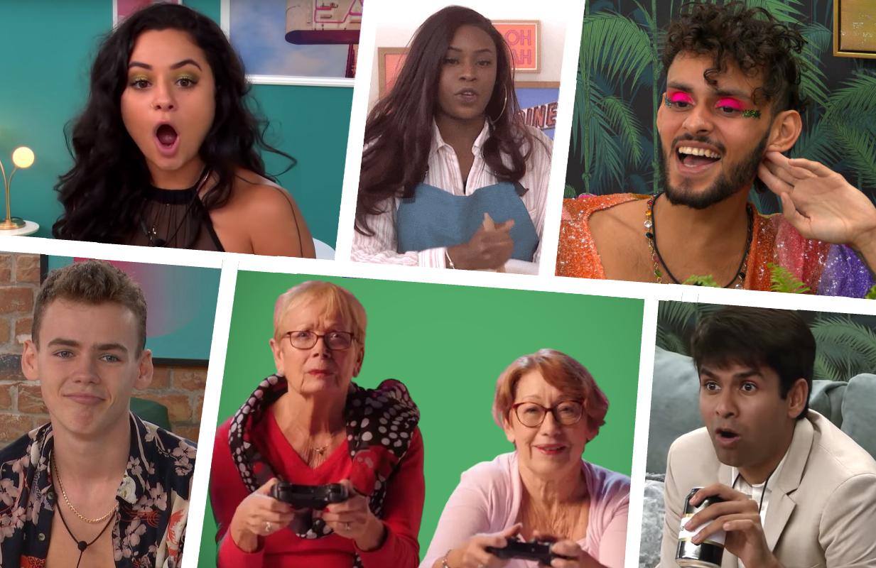 Around the world with The Circle: Sammie (US), Brooke (UK), Dumaresq (Brazil), Woody (UK), Monique and Jo (France) and Shubham (US). (Photos: Netflix)