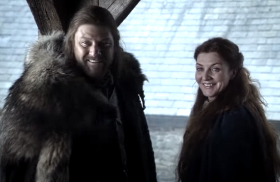 Sean Bean and Michelle Fairley in Game of Thrones (HBO)