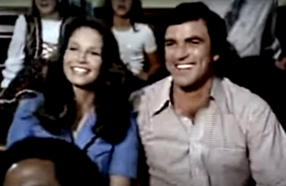 Jaclyn Smith and Tom Selleck on Charlie's Angels (ABC)