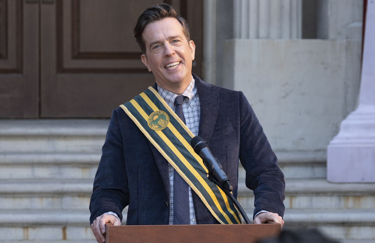Ed Helms in Rutherford Falls. (Peacock)