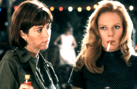 Dana Delany and Marg Helgenberger in China Beach (ABC)