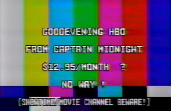 Captain Midnight's HBO Pirate Protest Message
