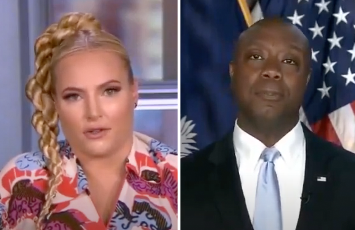 Meghan McCain discussed Tim Scott's GOP response to Biden's address Thursday on The View (ABC)