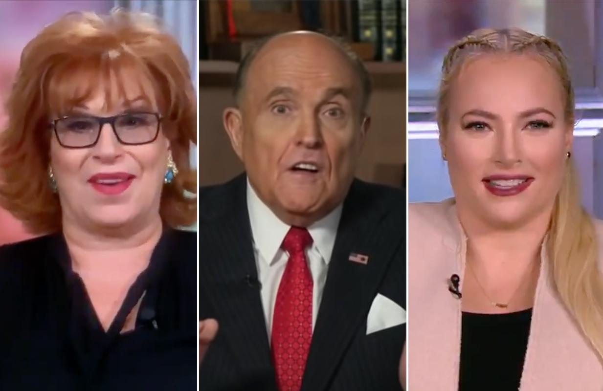 Joy Behar and Meghan McCain discuss Rudy Giuliani on The View (ABC/Fox News)