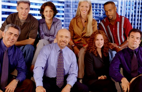 Mark Harmon, Carla Gugino, Lauren Holly, Rocky Carroll, Adam Arkin, Hector Elizondo, Barbara Hershey, and Mandy Patinkin in Chicago Hope (CBS)