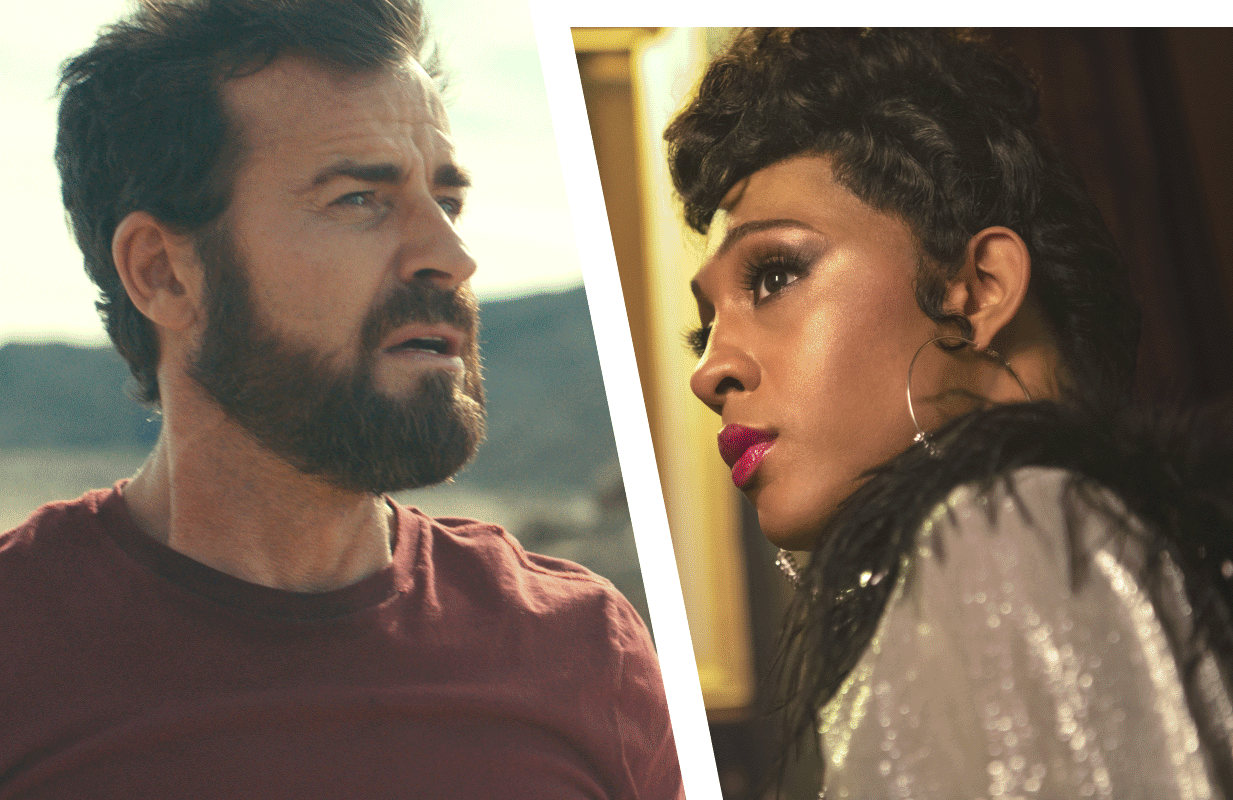Justin Theroux in The Mosquito Coast and Mj Rodriguez in Pose (Photos: Apple TV+/FX)