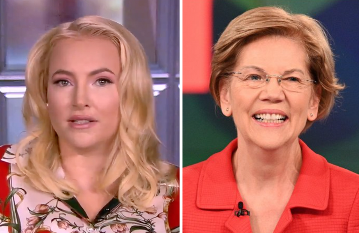 Meghan McCain heaped praise on Democrat Elizabeth Warren Tuesday on The View (ABC)