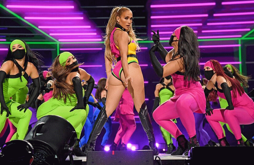 Jennifer Lopez's performance at last Sunday's Vax Live concert at SoFi stadium in Los Angeles will air as part of an hour-long multi-network special this weekend. (Photo: Global Citizen)