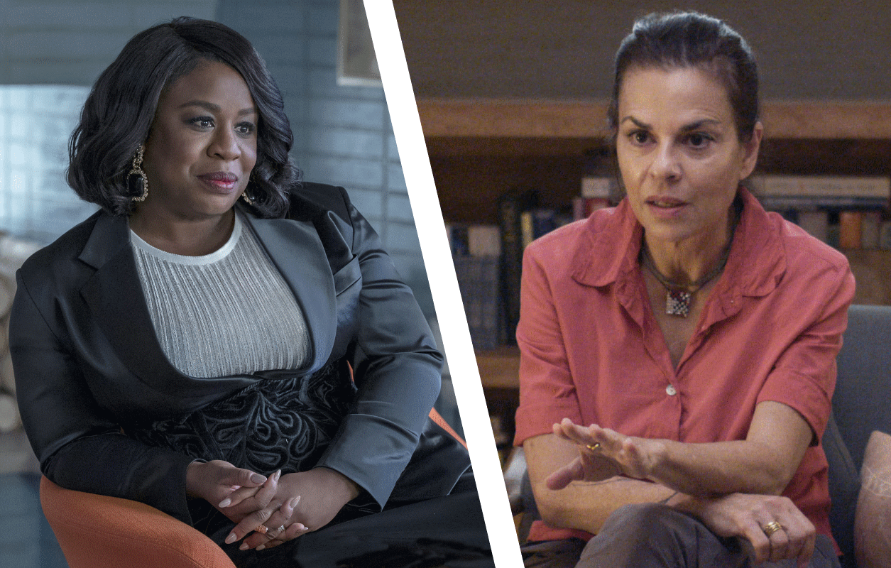 Uzo Aduba in HBO's In Treatment and Orna Guralnik in Showtime's Couples Therapy (Photos: Suzanne Tenner/HBO, Showtime).