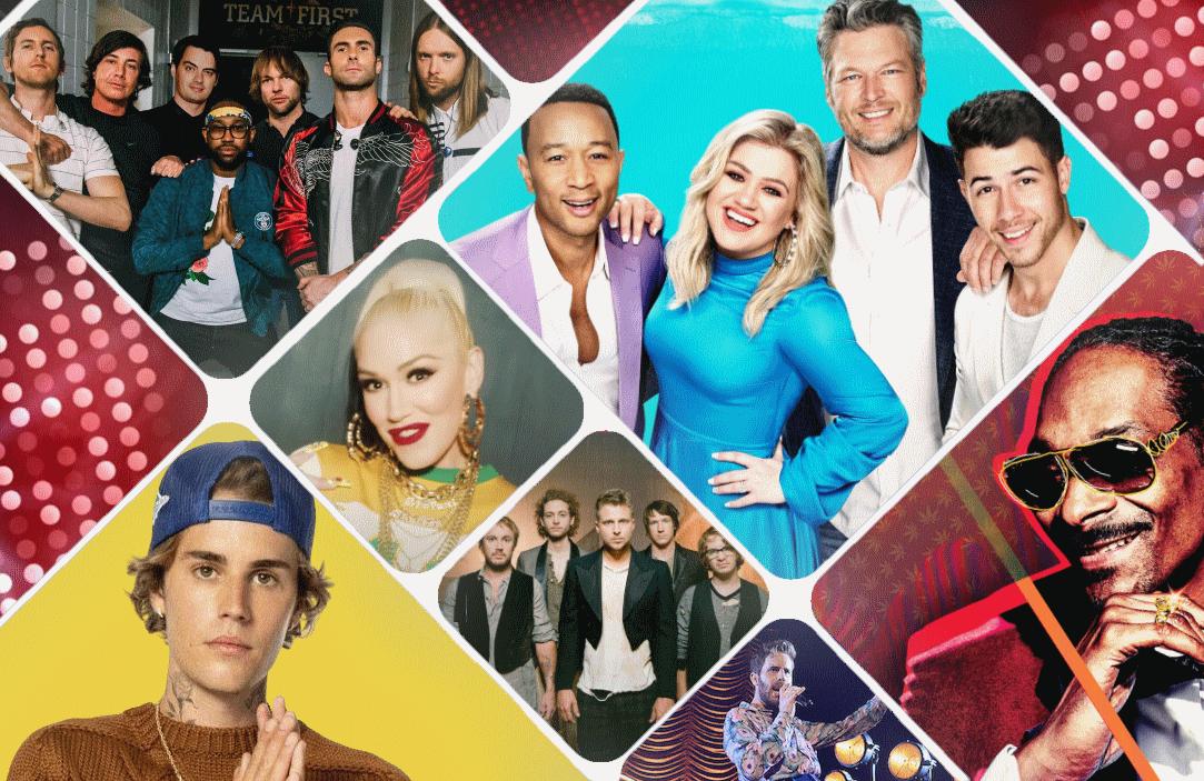 Justin Bieber, Maroon 5, OneRepublic, Gwen Stefani, Snoop Dogg and Ben Platt guest on tonight's Voice season finale event.