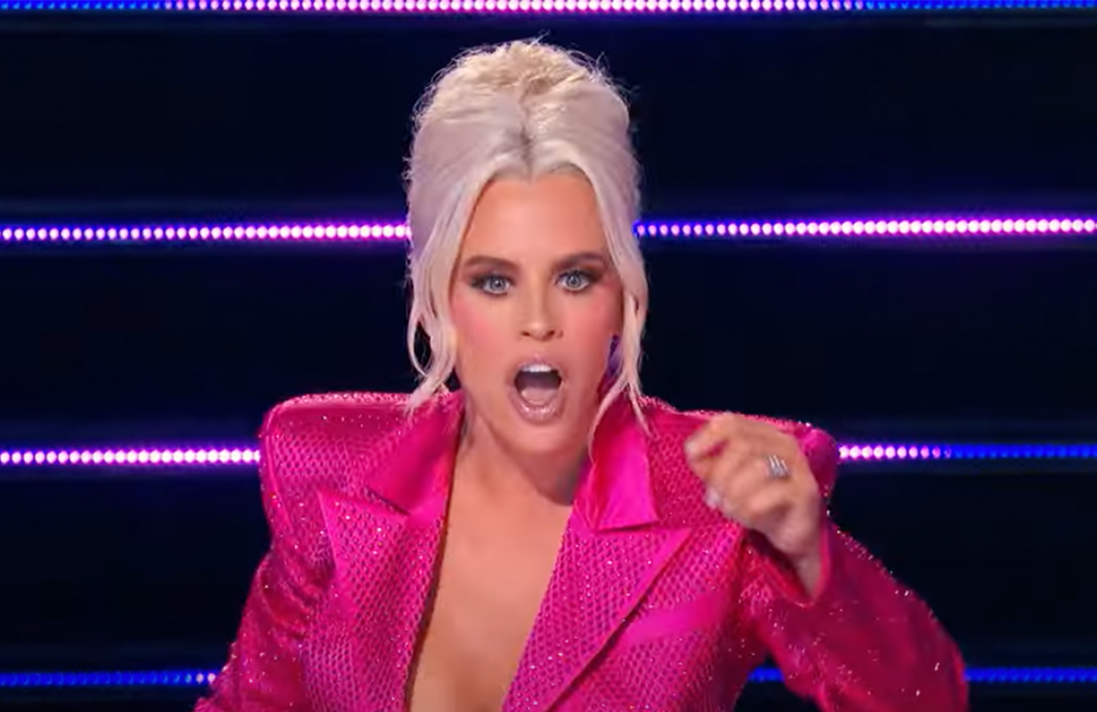 Jenny McCarthy received the shock of a lifetime Wednesday on The Masked Singer (Photo: FOX)