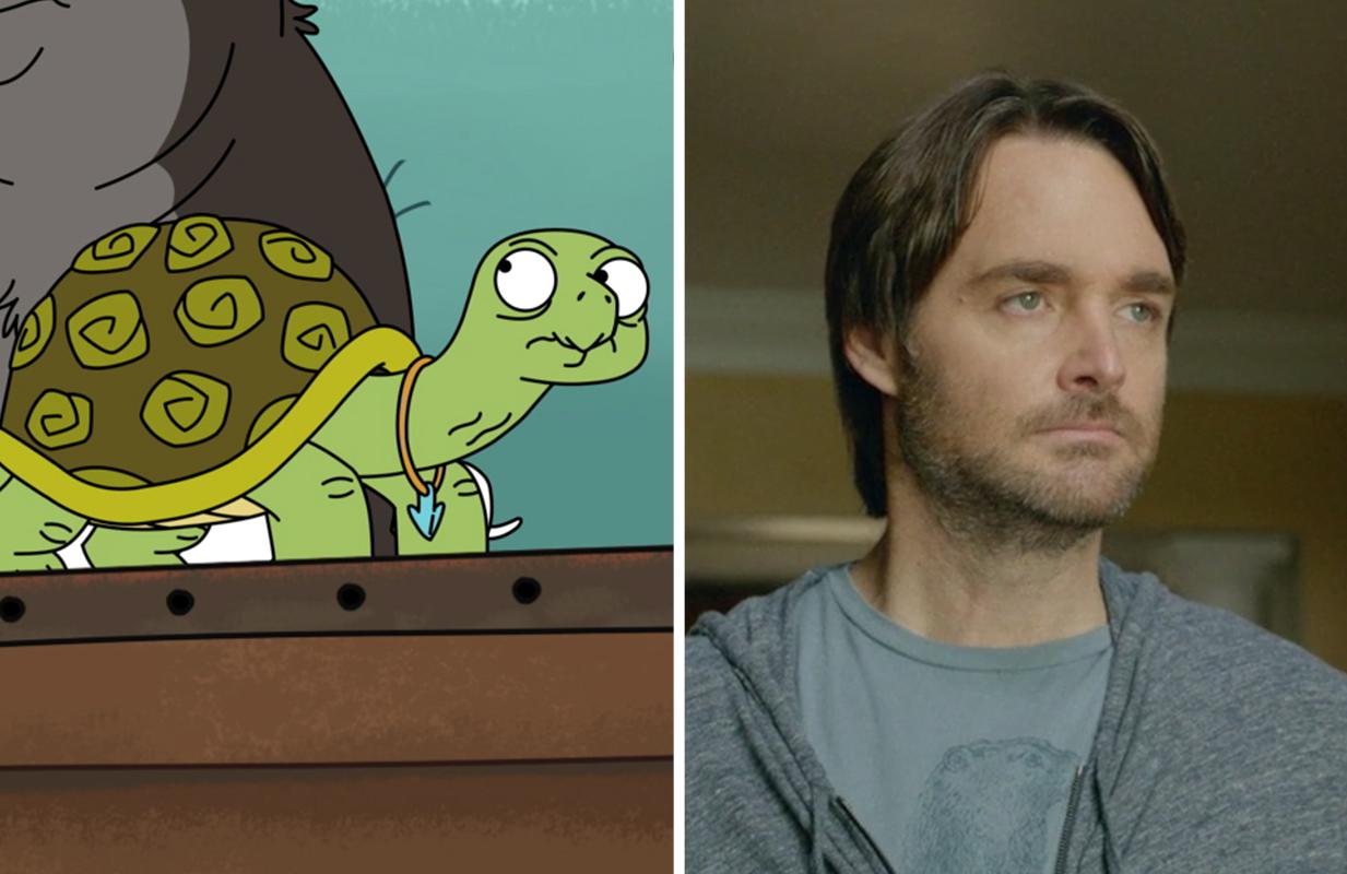 Will Forte voices Shel, a sex-positive tortoise. (Photos: FOX/Hulu)