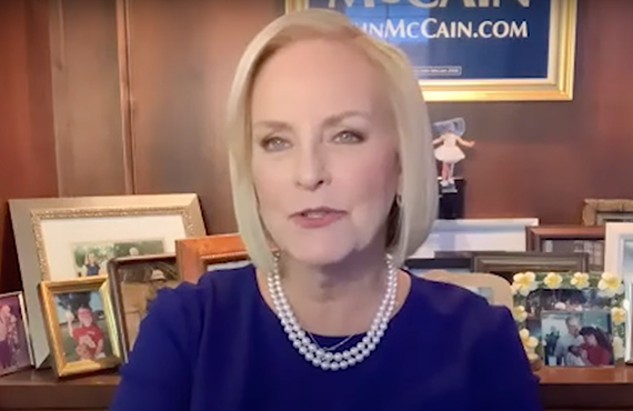 Cindy McCain spilled the family tea this week on Andy Cohen's radio show. (Photo: SiriusXM)