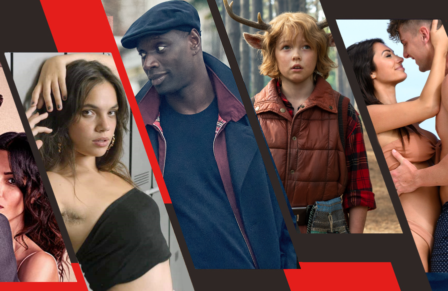 From left to right: Sex/Life, Elite, Lupin, Sweet Tooth and Too Hot to Handle. (Photos: Netflix)