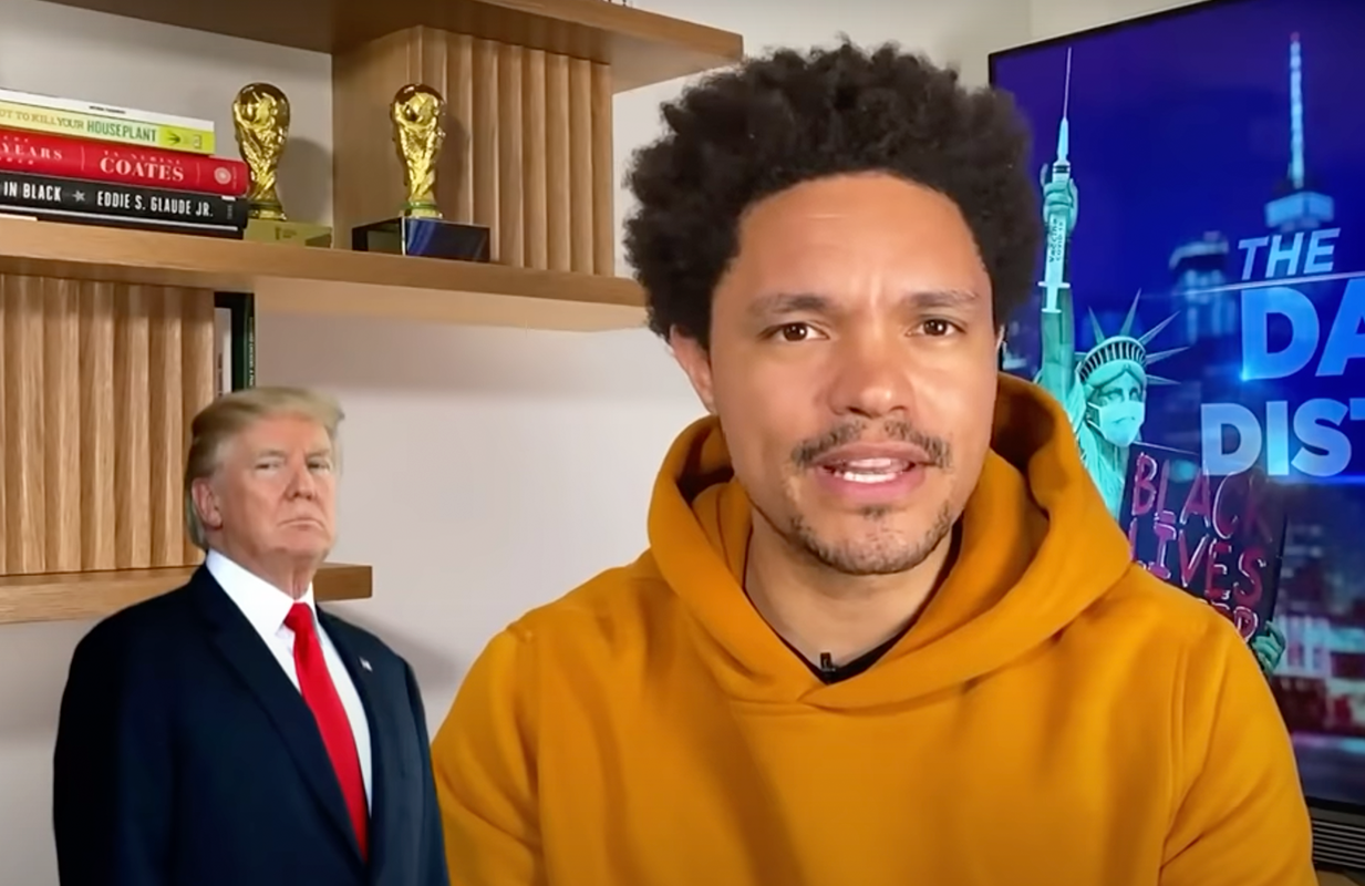 The Daily Show host dragged Trump's post-White House activities in a 16-minute supercut. (Photo: Comedy Central)