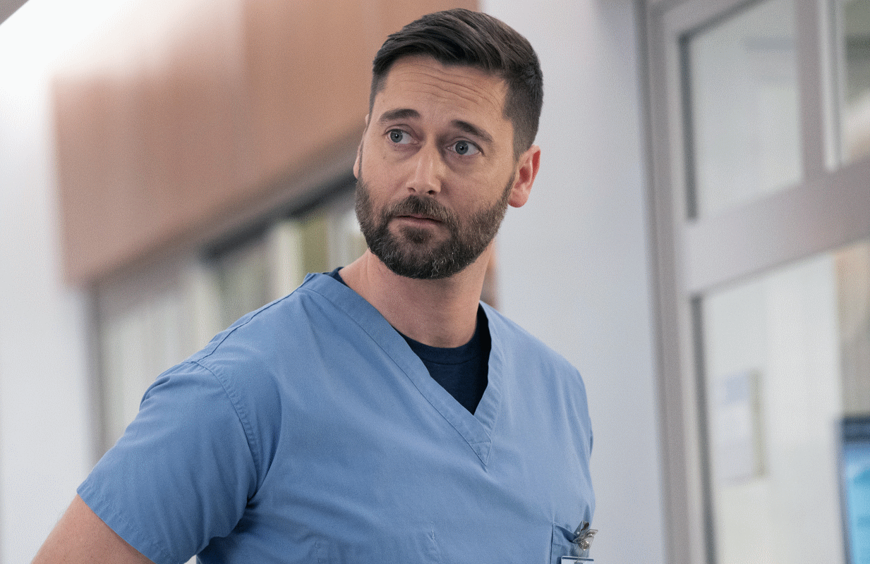 Ryan Eggold as Dr. Max Goodwin in New Amsterdam. (Photo by: Virginia Sherwood/NBC)