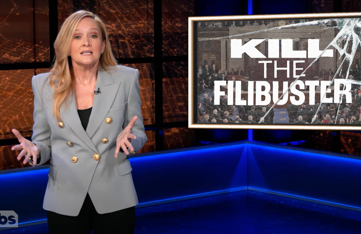 Samantha Bee is deadly seriously about killing the filibuster. (Photo: TBS)