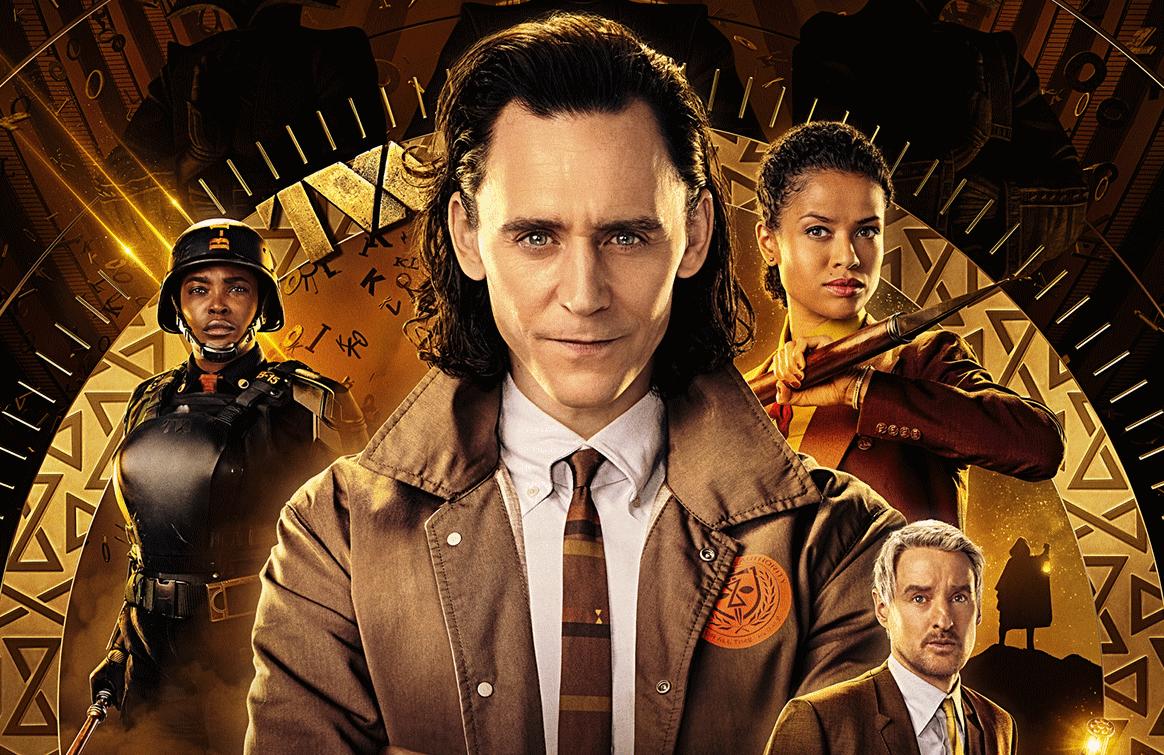 Loki stars Tom Hiddleston, Wunmi Mosaku, Gugu Mbatha-Raw, and Owen Wilson. (Photo: Disney+)
