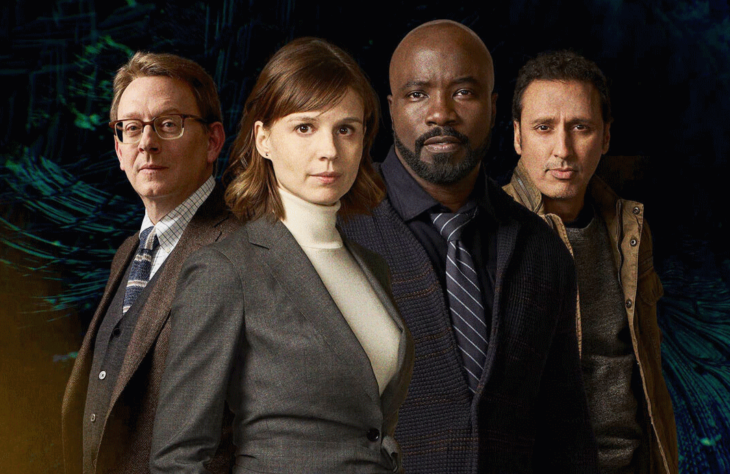 Michael Emerson, Katja Herbers, Mike Colter and Aasif Mandvi star in Evil. (Photo: CBS)