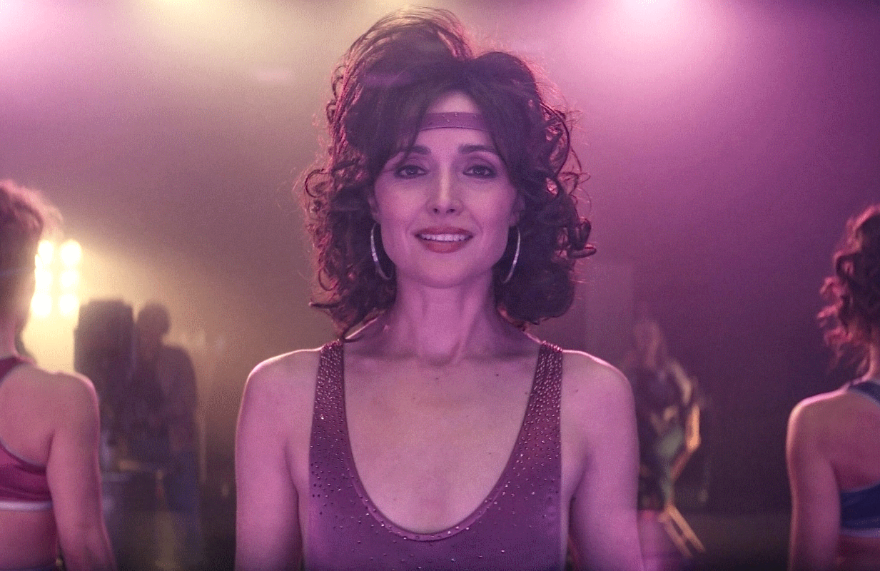 Rose Byrne plays an '80s-era aerobics tape guru in Physical. (Photo: Apple TV+)