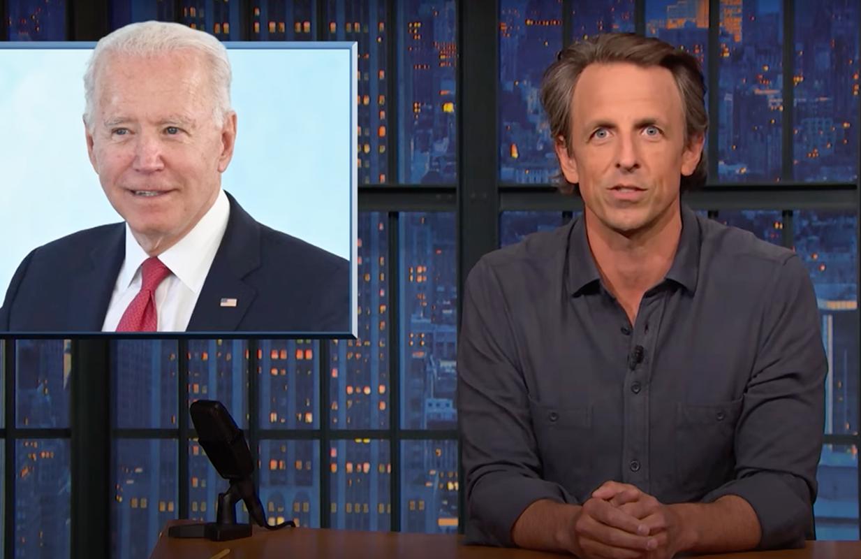 Seth Meyers defended Joe Biden from Fox News' criticism during Thursday's Closer Look segment. (Photo: NBC)