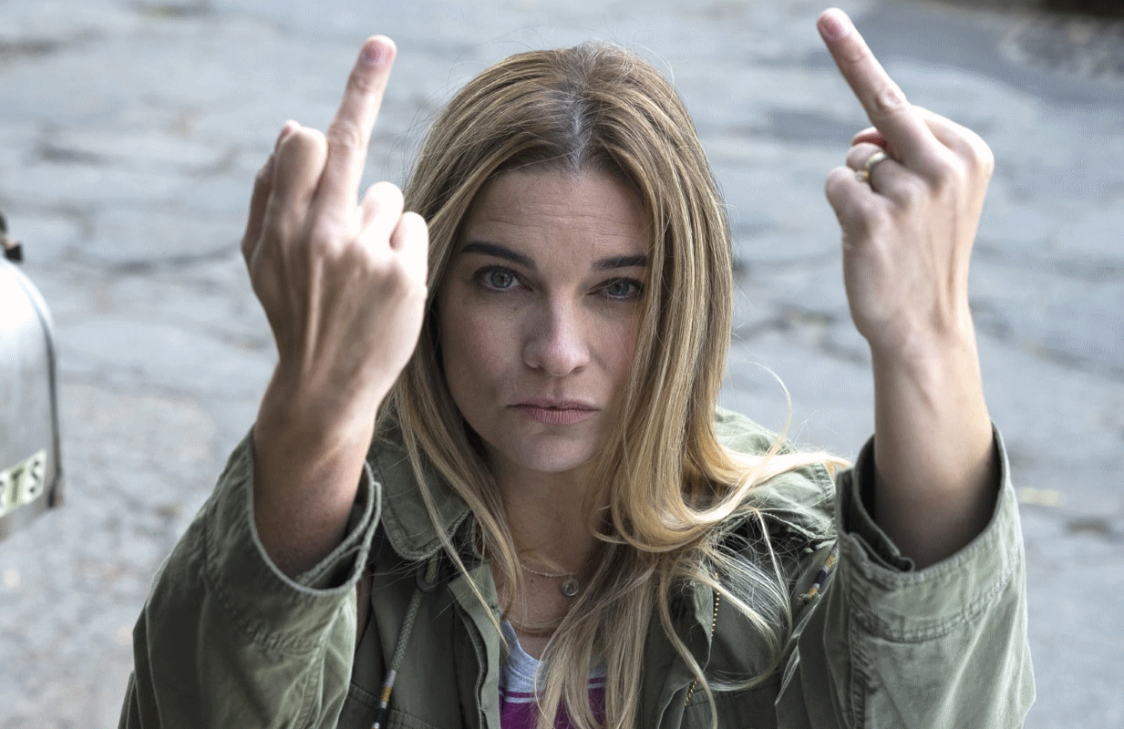 Annie Murphy stars in Kevin Can F*** Himself. (Photo: AMC)