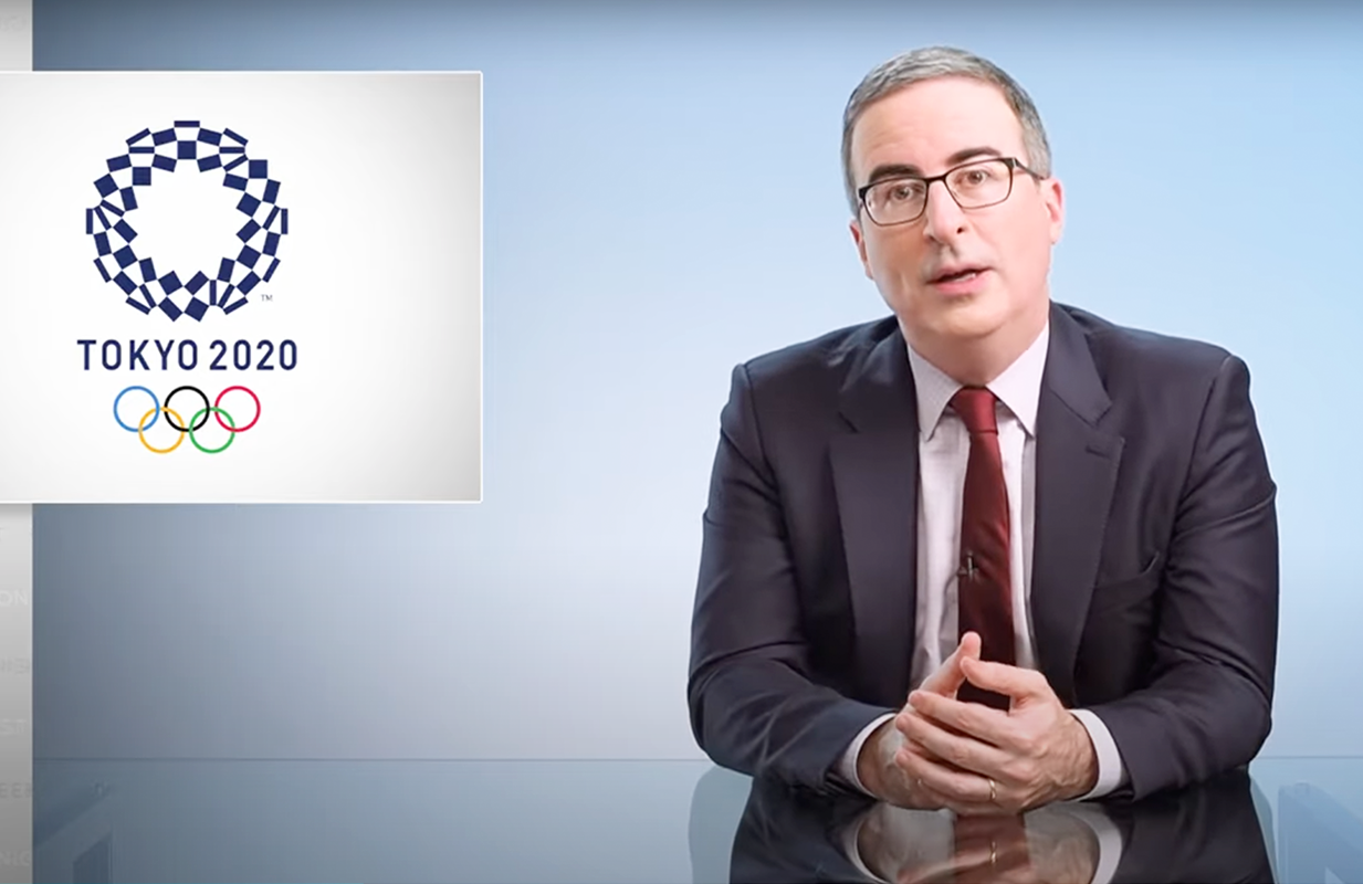 John Oliver made the case for canceling the Tokyo Olympics on Last Week Tonight. (Photo: HBO)