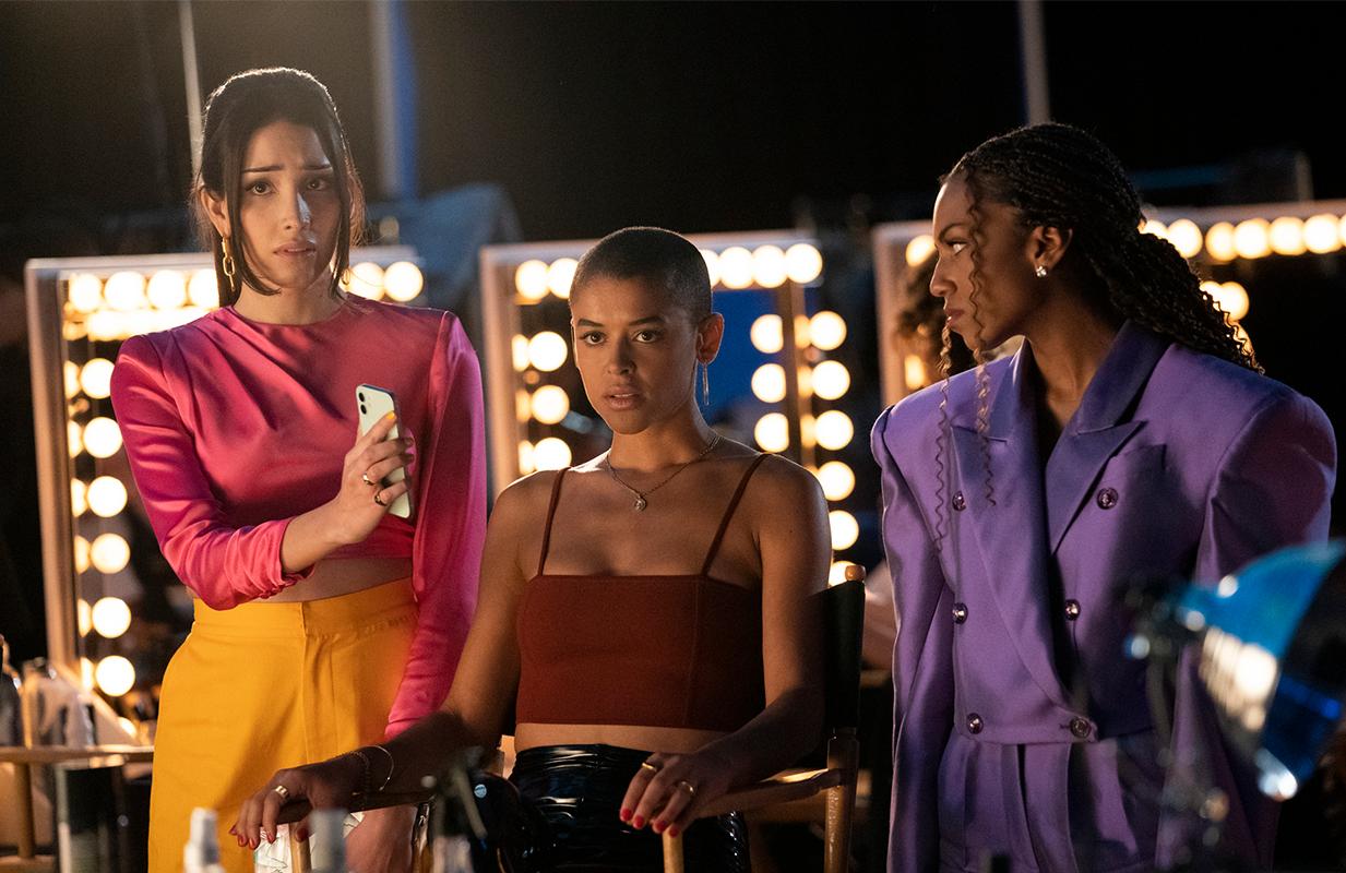 Zion Moreno, Jordan Alexander, and Savannah Smith in Gossip Girl. (Photo: HBO Max)