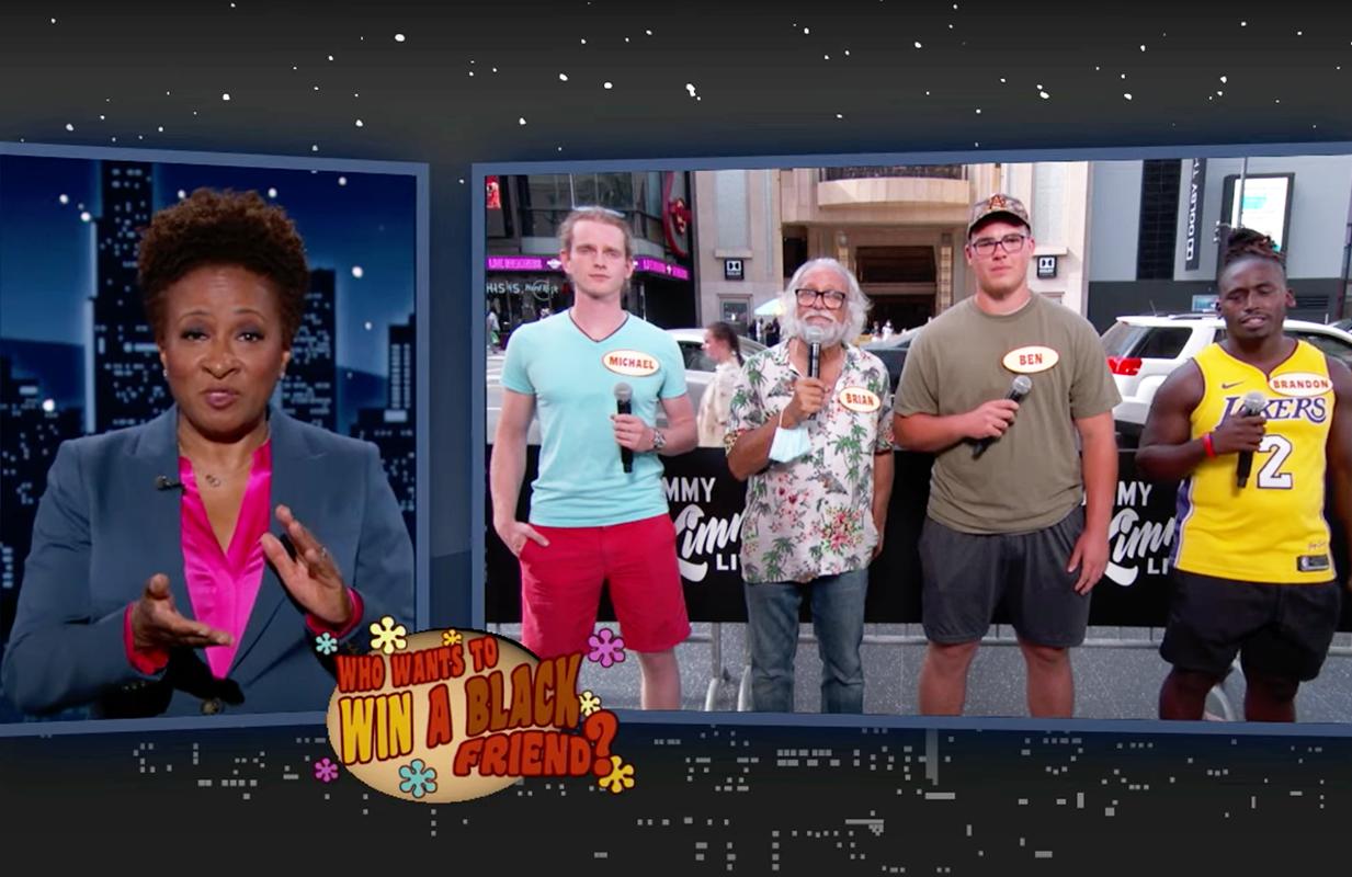 "Wanda Sykes hosts ""Who Wants to Win a Black Friend"" on Kimmel. (Photo: ABC)"