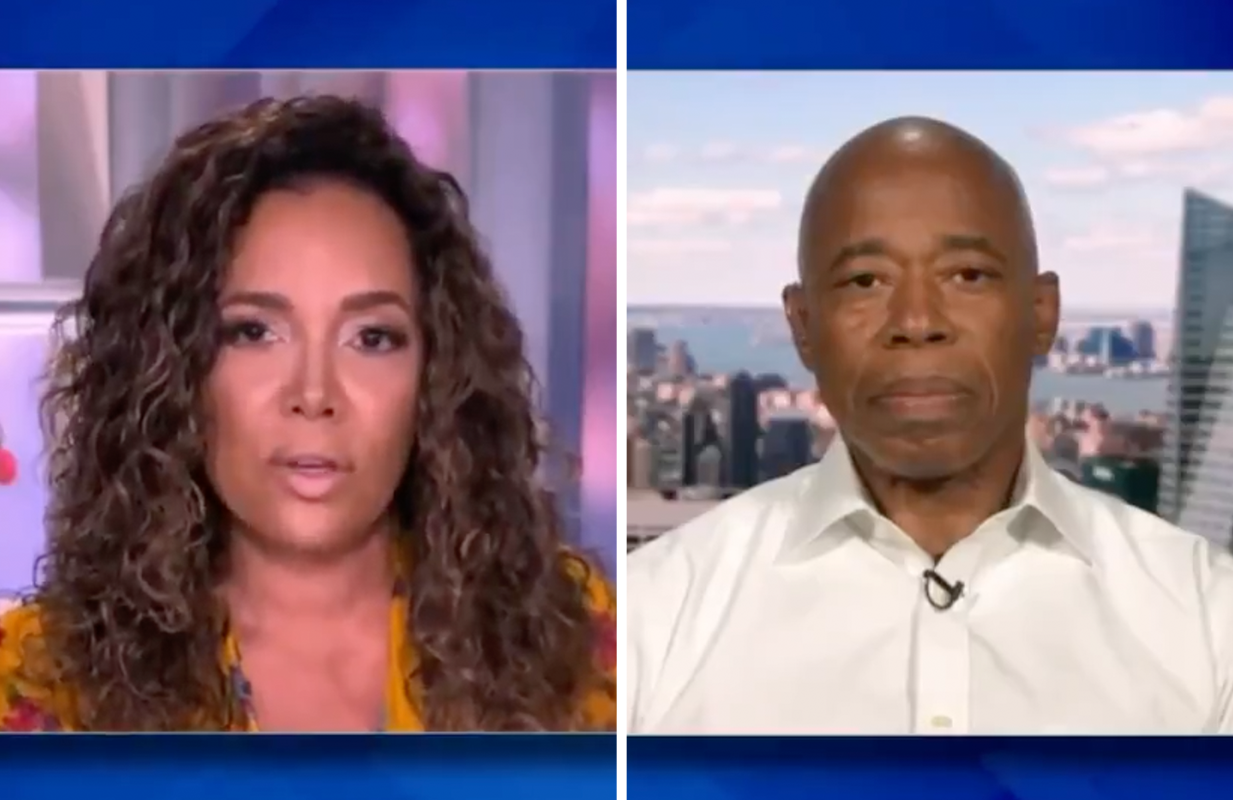Sunny Hostin took no prisoners during Eric Adams' brief appearance on The View. (Photos: ABC)