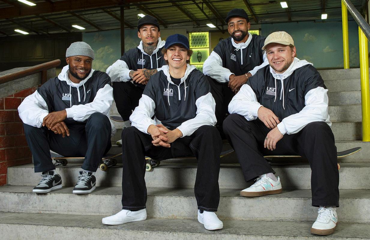 Team USA's 2020 Men's Street Team (Photo: USA Skateboarding)