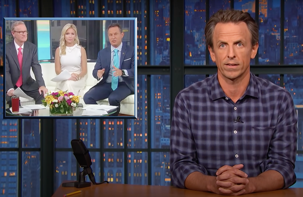 Seth Meyers has no time for Fox News' flip-flopping on the COVID-19 vaccine. (Photo: NBC)