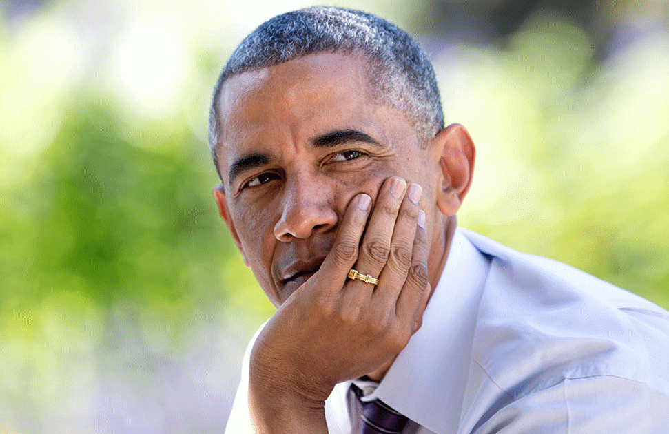 Barack Obama, photographed in the White House Rose Garden in 2014 (Pete Souza/The White House)