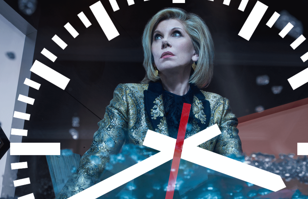 Don't hold your breath waiting for The Good Fight's opening credits. (Photo: Robert Ascroft/Paramount+)