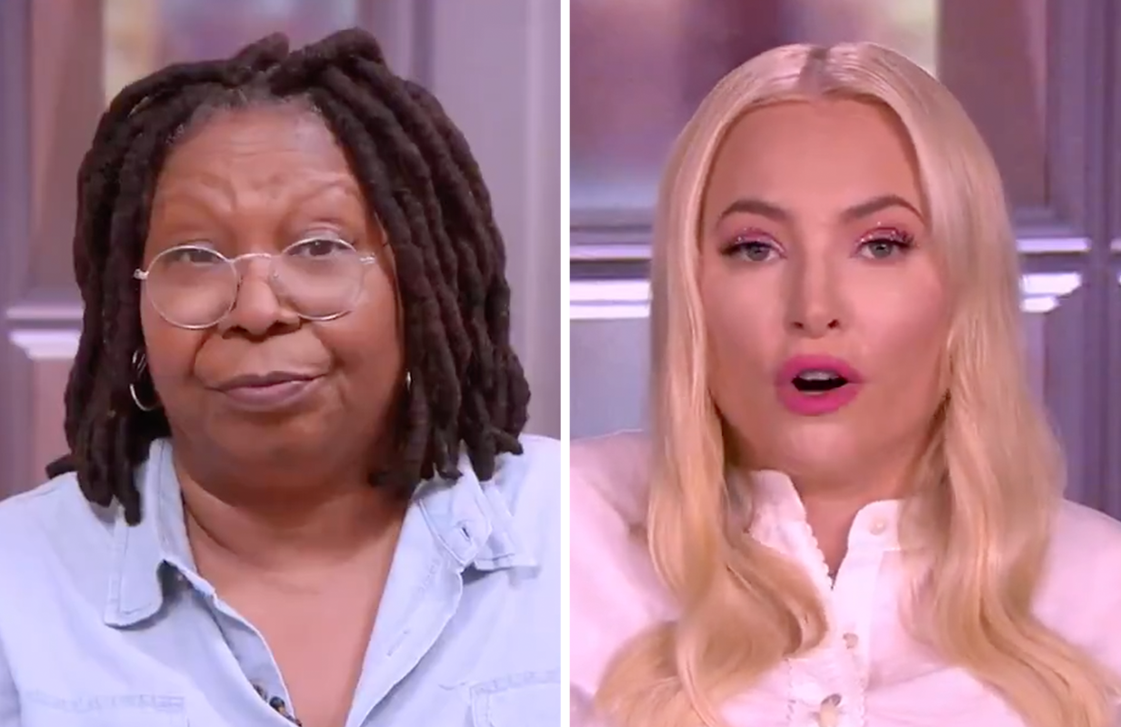 """Whoopi was not interested in Meghan's """"vaccine passport"""" complaints today on The View. (Photos: ABC)"""