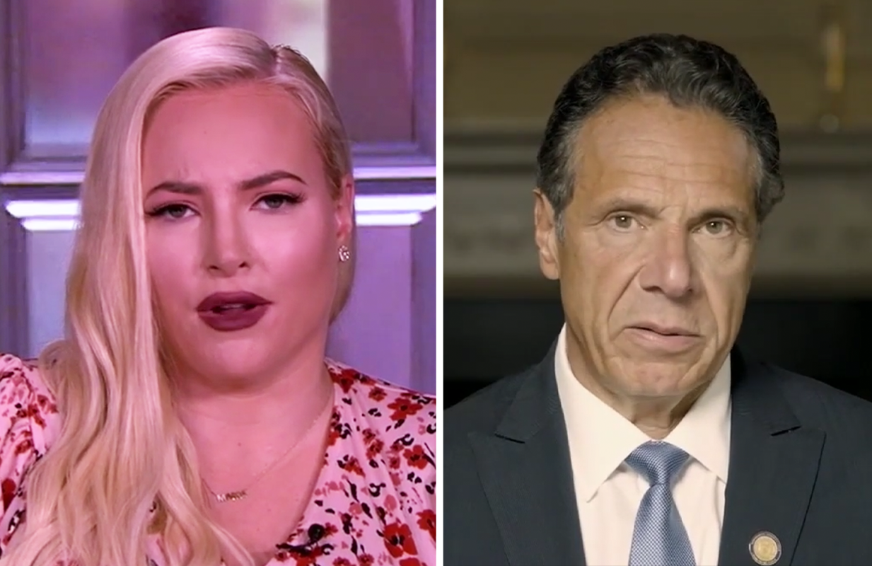 Meghan McCain joined her co-hosts in calling for Gov. Andrew Cuomo's resignation in the wake of his sexual harassment scandal. (Photos: ABC)