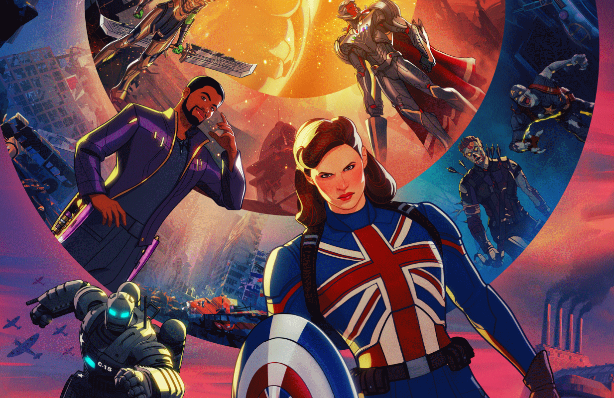 A host of stars reprise their MCU roles in the Disney+ animated series What If...?. (Image: Disney+)
