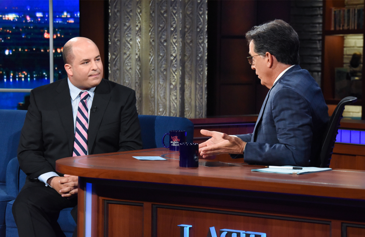 Brian Stelter on The Late Show with Stephen Colbert (Photo: CBS)