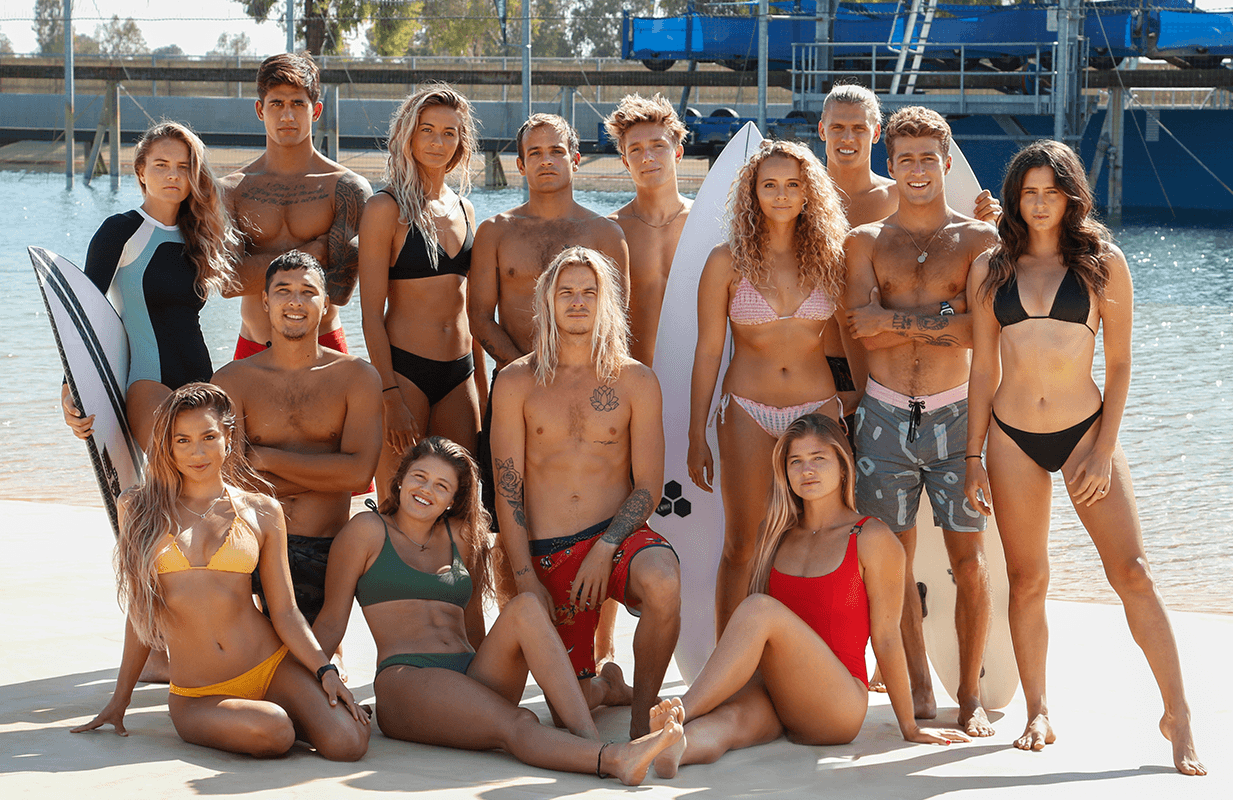 14 surfers vie for a spot on the World Surf League Championship Tour in ABC's new competition series. (Photo: ABC)