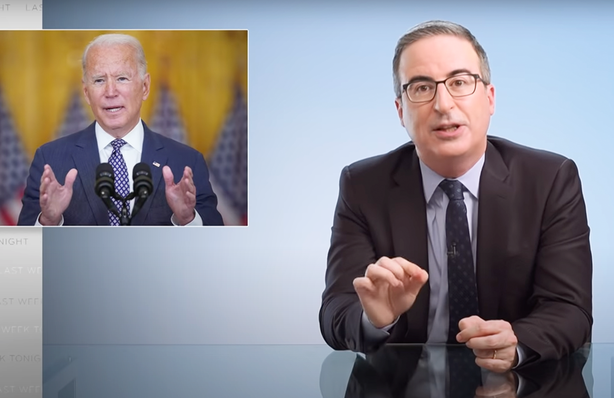 John Oliver discusses Joe Biden's role in the withdrawal from Afghanistan (Photo: HBO)