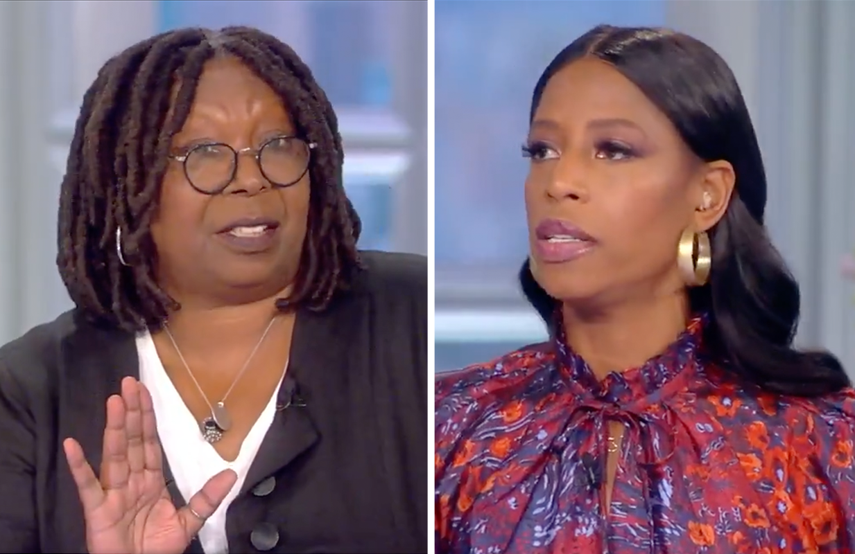 """Whoopi Goldberg dismantled Mia Love's """"personal choice"""" argument this morning on The View. (Photo: ABC)"""