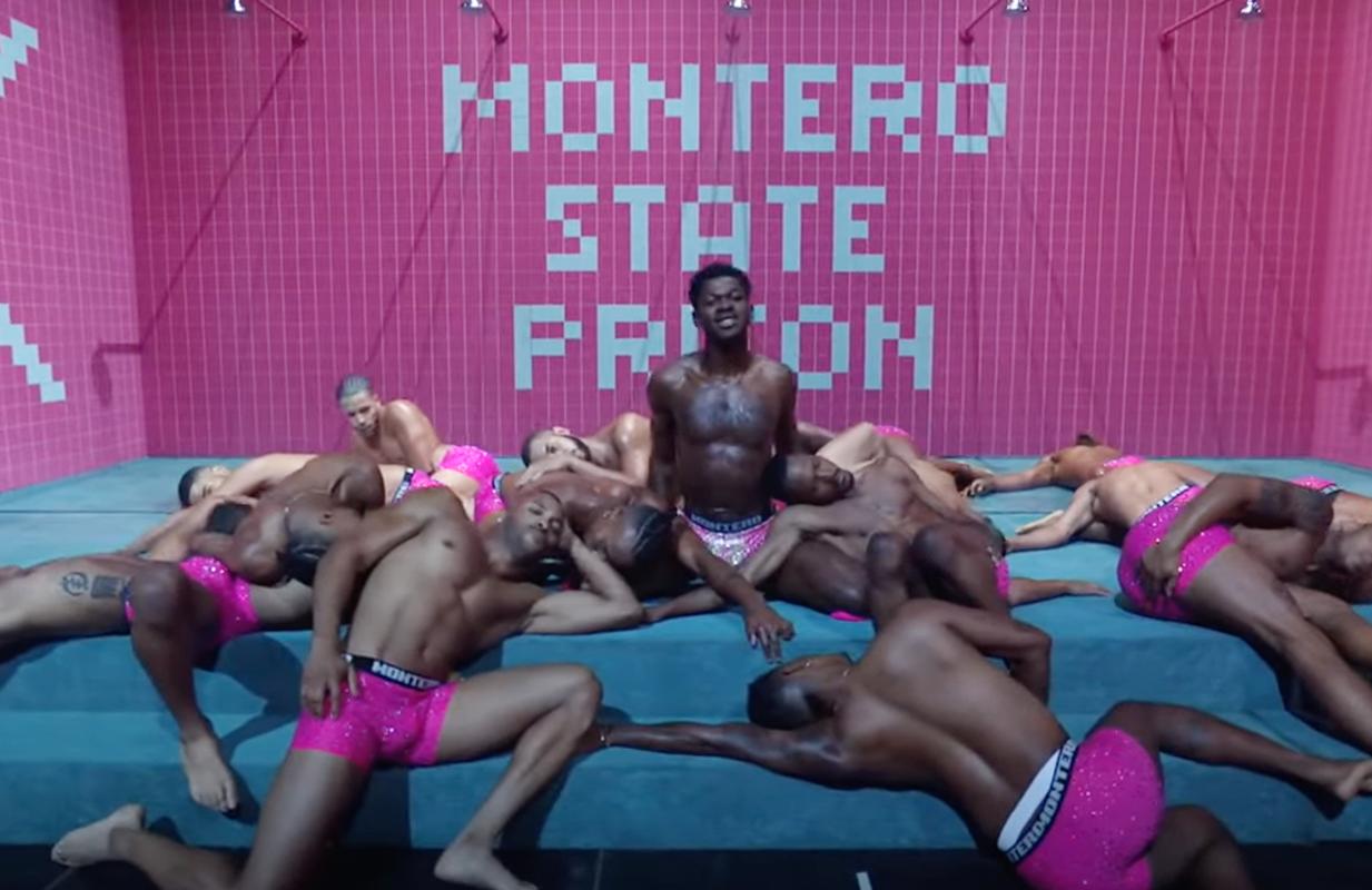 Lil Nas X and his backup dancers at the 2021 MTV VMAs (Photo: MTV)