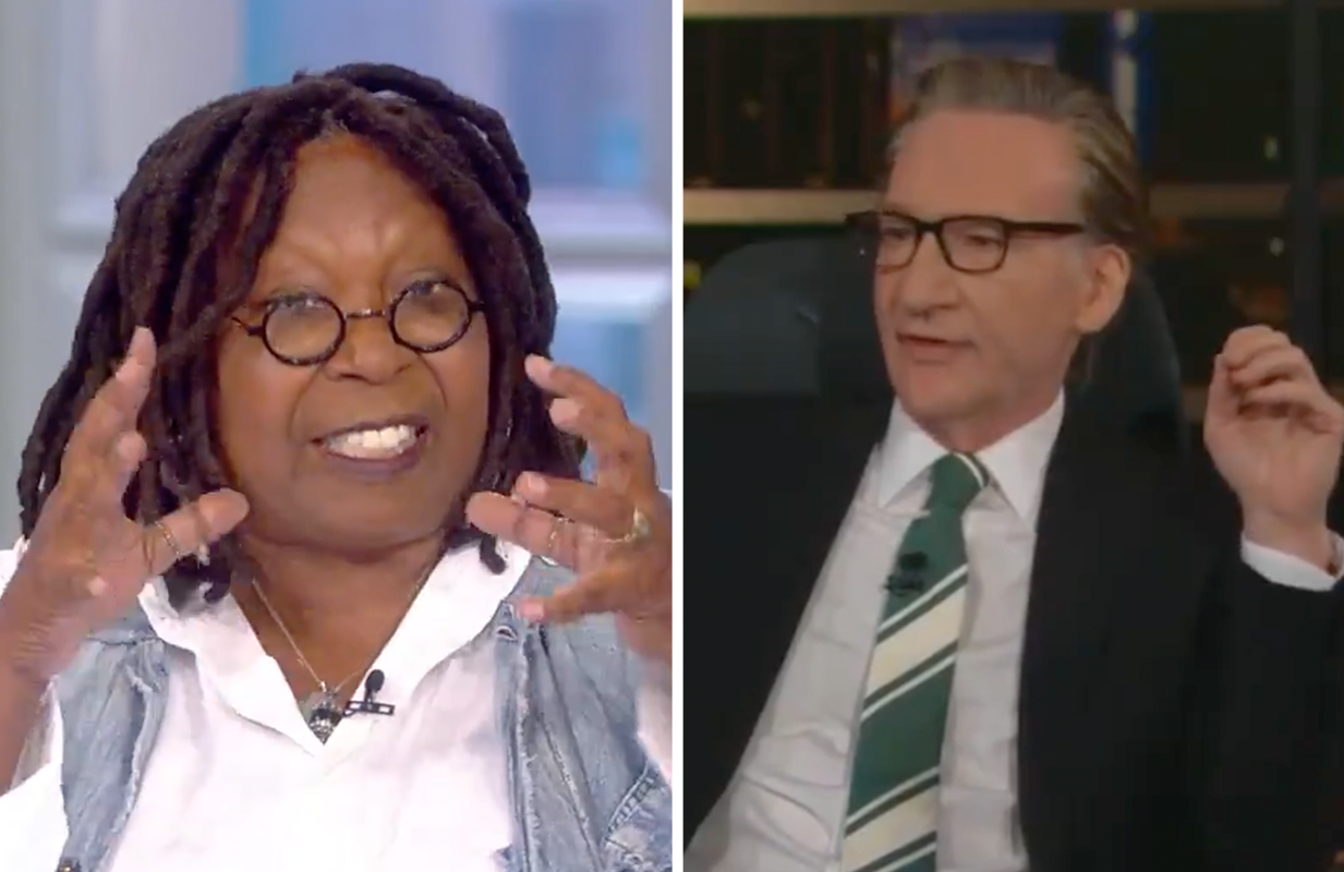 """Whoopi Goldberg went after Bill Maher for calling """"Lift Every Voice and Sing"""" a form of """"segregation"""". (Photos: ABC, HBO)"""
