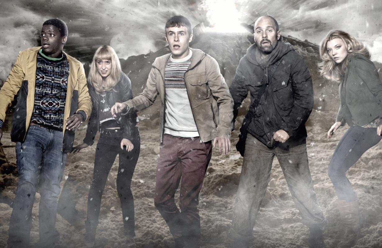 Daniel Kaluuya, Lily Loveless, Iain DeCaestecker, Johnny Harris, and Natalie Dormer in The Fades (Photo: BBC)